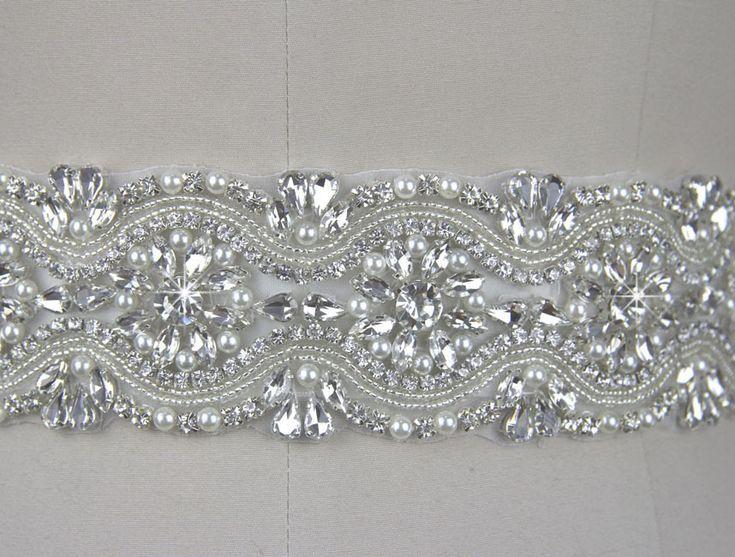 2015 nova chegada de cristal requintado strass diamantes de vidro checa diamantes e pérolas de casamento cinto vestido de noiva em Cintos e Faixas de Roupas e Acessórios no AliExpress.com | Alibaba Group