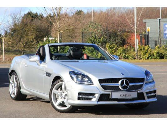 Used 2015 (15 reg) Iridium Silver Metallic Mercedes-Benz SLK AMG Sport for sale on RAC Cars