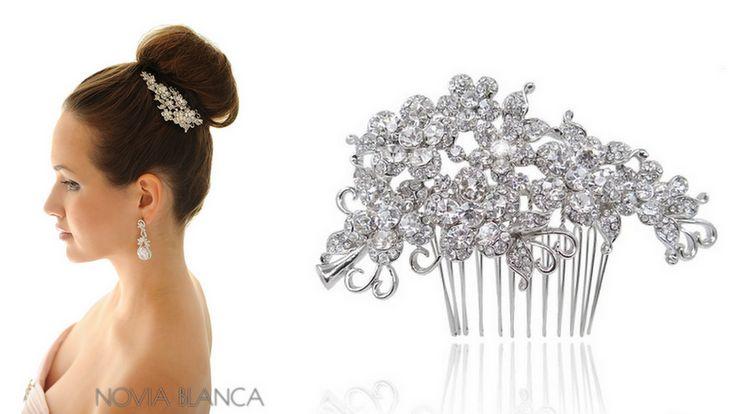crystal bridal comb www.novia-blanca.pl