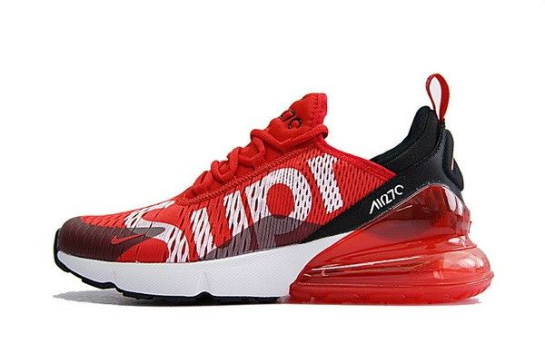 finest selection f1040 ae60c Supreme x Nike Air Max 270 Latest Styles 2018 Scarpe da corsa Sup Rosso  Bianca Nero