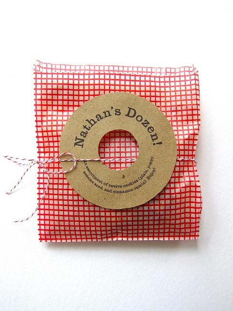 adorable bagel favors made by Erin Jang of Indigo Bunting