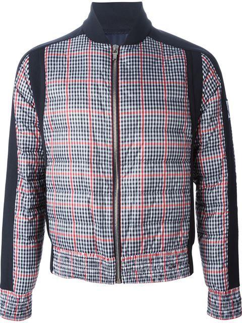 Moncler Gamme Bleu Gingham Padded Jacket - Smets - Farfetch.com