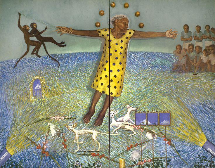 Santa Rosa (Díptico) // Brook Alfaro // Panamá // Oleo sobre lienzo //  Colección Fundación Museo Bolivariano de Arte Contemporáneo