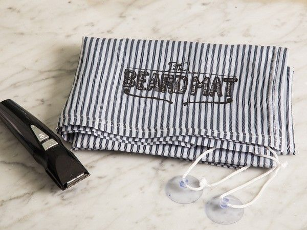 BeardMat, discovered by The Grommet, means the days of counters being covered with beard trimmings will be a thing of the past.
