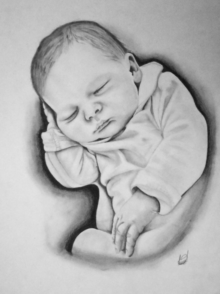 Рисовать ребенка карандашом картинки
