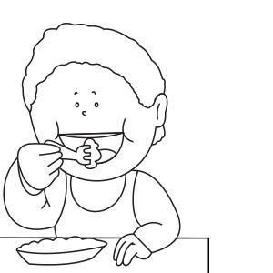 Ausmalbild essen | Ausmalbilder, Ausmalen, Malvorlagen