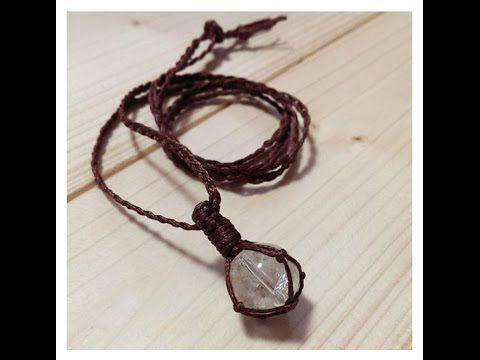 天然石包み編みネックレスの作り方 - YouTube