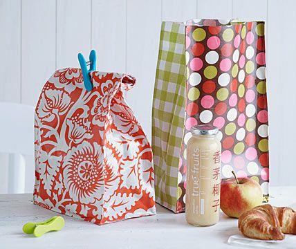 Lunchbag aus Wachstuch - Kreative Ideen mit Wachstuch 4 - [LIVING AT HOME] (isn't this a great idea?)