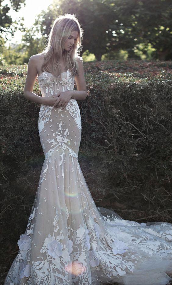 Featured Dress: Idan Cohen; Wedding dress idea.
