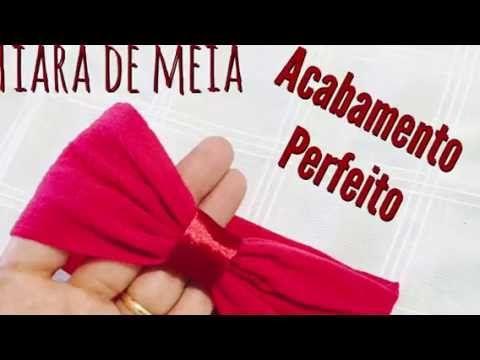 Tiaras com meia de seda para recém nascidos - Passo a passo com Eliana Donato. - YouTube