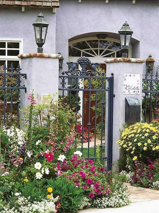 Gartentür Garten Eingang gestalten Metall Zaun