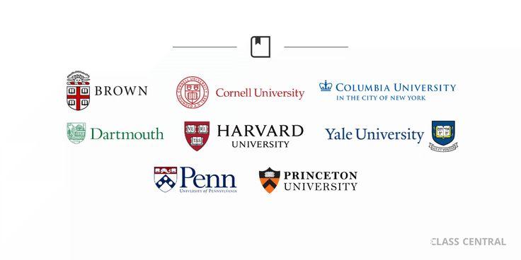 250 MOOCs from Brown, Columbia, Cornell, Dartmouth, Harvard, Penn, Princeton, and Yale.