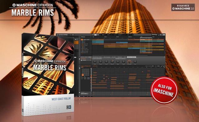 Gearjunkies.com: Native Instruments SoCal Hip Hop Maschine Expansion: Marble Rims
