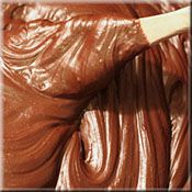 Many variations of chocolate ganache for wedding cake filling