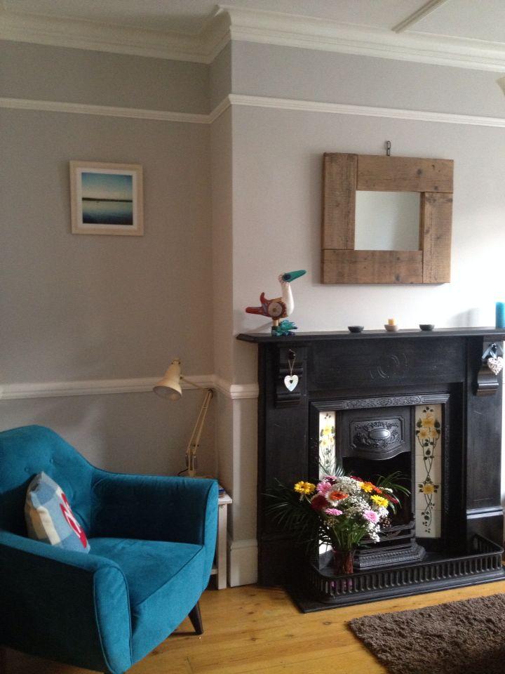 Farrow and Ball cornforth white walls. Warm grey paint!