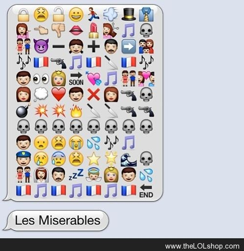 Les miserables... don't know that I cared that much for this movie, but this is cool