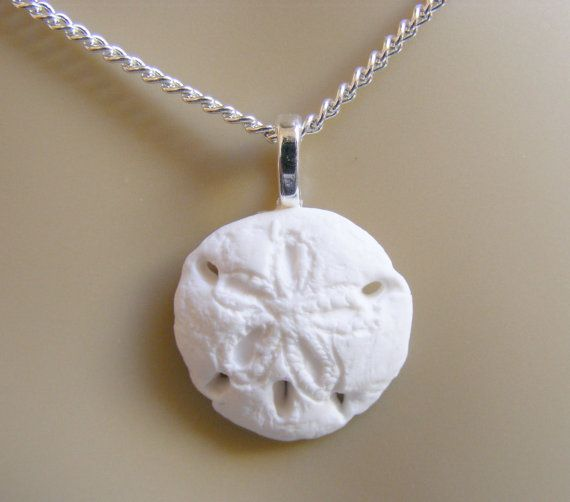 Sand Dollar Necklace Sand Dollar PendantSand by NeatEats on Etsy
