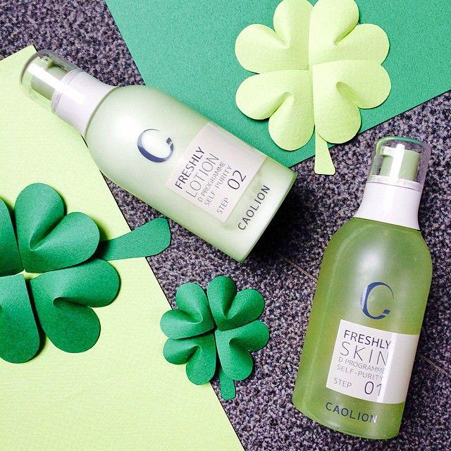 Feeling lucky _ #caolion #카오리온 #green #stpatricksday #clover #stpattysday