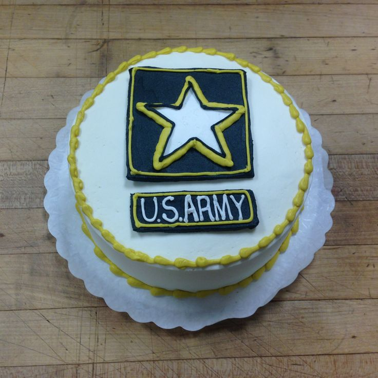 A send-off cake to a young man joining the Army!