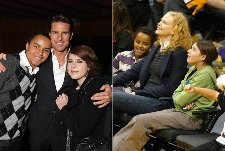 Tom Cruise & Nicole Kidman w/ their adopted children ...