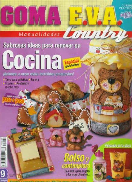 manualidades para la cocina en foamy