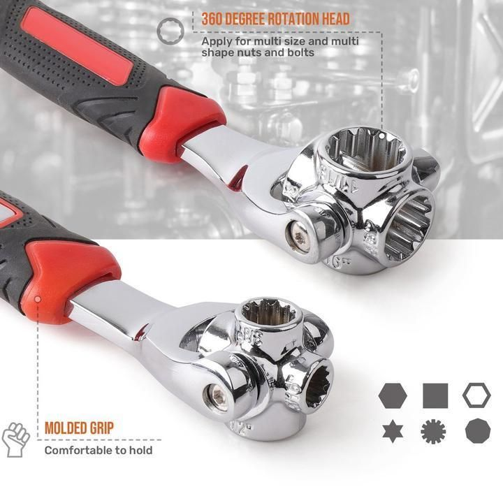 48 In 1 Socket Wrench Universal Wrench Rockcoo Socket Wrenches