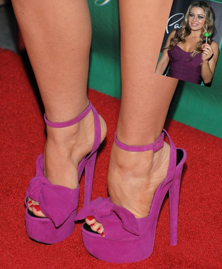 Carmen Electra Legs | Top Catalog Celebrity Feet Carmen Electra in funky high