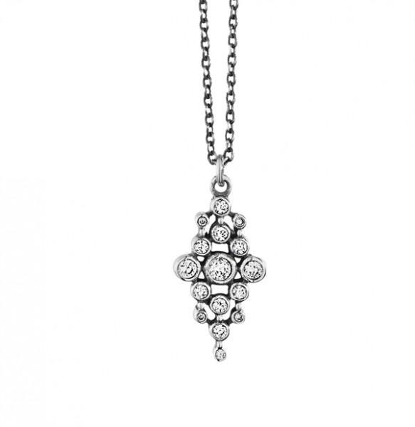 DYRBERG/KERN Silver - Kette Casca Oxydiertem Silber Schwarz Mat