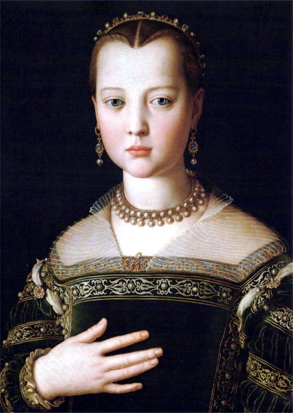 Agnolo di Cosimo, Portrait of Maria de' Medici, 1553