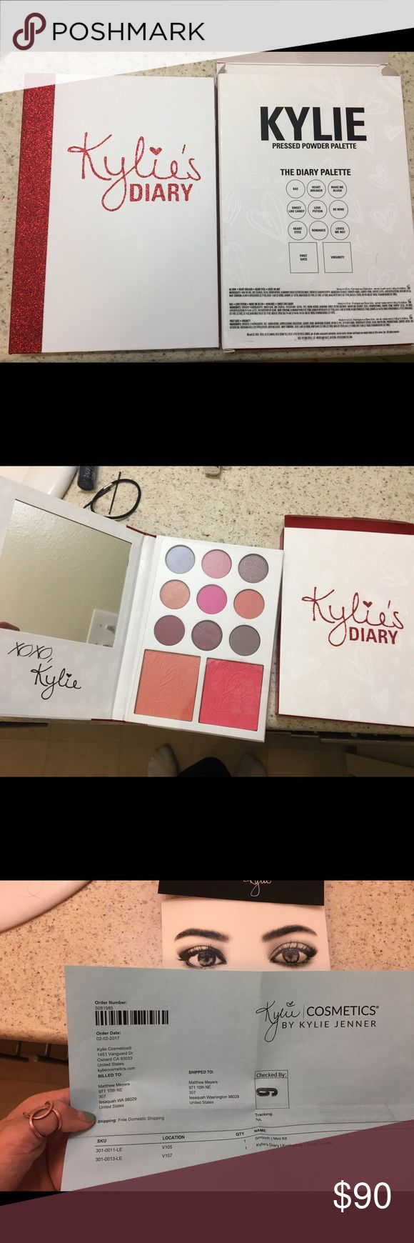 Kylie Cosmetics Diary Brand new never used or opened! Bought on Kylie's website. Receipt as proof. :) Kylie Cosmetics Makeup