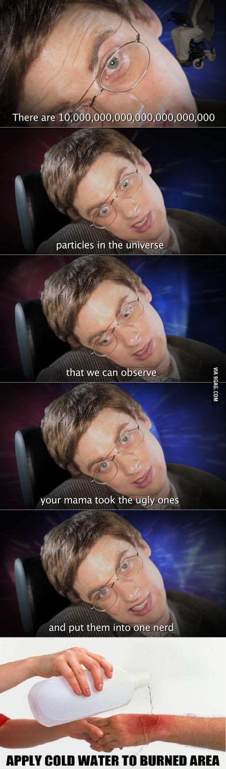 Stephen Hawking vs Einstein - Epic Rap Battles of History. Greatest burn ever