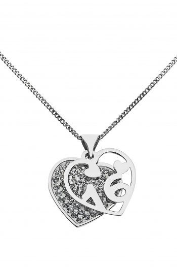 Moon amp Back Sterling Silver Crystal 16th Heart Pendant 220x330 Sweet 16th birthday Gift Ideas