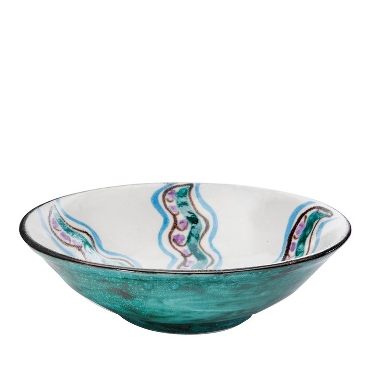 Handpainted Rose Pinto Centerpiece - Shop timeless tableware handmade in Italy: ceramic plates, silver cutlery and crystal glasses - Home Décor and Interior Design ideas from Italy's finest artisans - Artemest