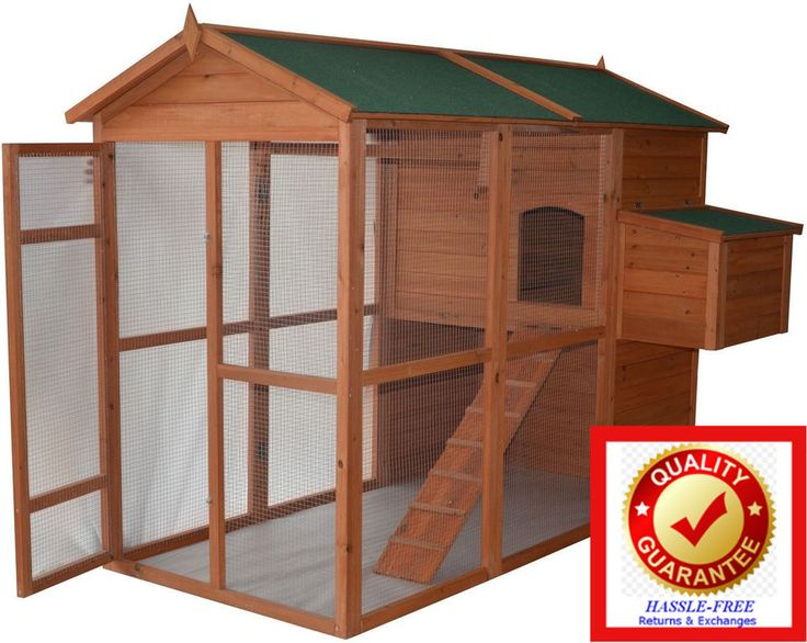 Large Walkin Chicken Coop, Deluxe Poultry Hen House, Run & Egg Box All in One | Pet Supplies, Backyard Poultry Supplies | eBay!