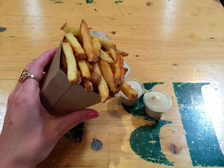 Crunchy fatty (perfect) fries from Copper & Wheat
