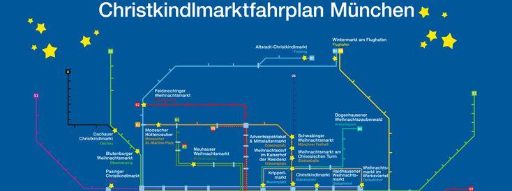 Der Christkindlmarkt-Fahrplan von muenchen.de gibt Euch einen praktischen Überblick und zeigt, mit welcher U- oder S-Bahn Ihr zu den Weihnachtsmärkten kommt!