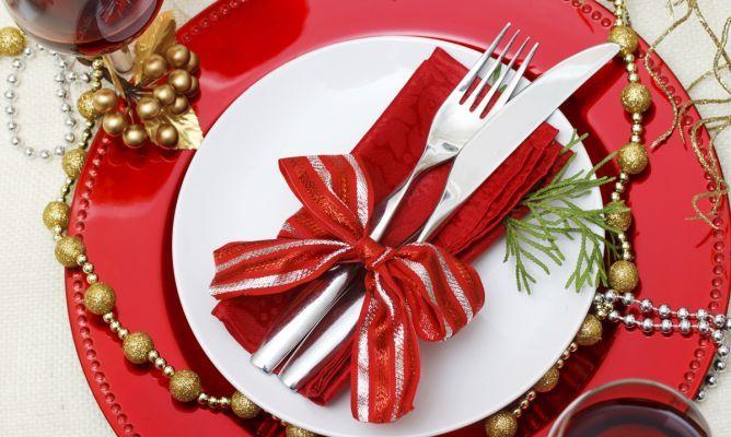 Ideas para presentar las servilletas en Navidad