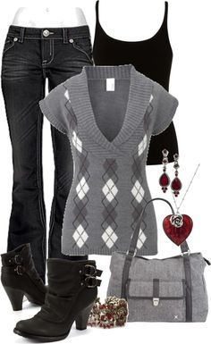 I'd love this sweater and tank with a pair or work appropriate slacks! #PersonalLeadership #Women