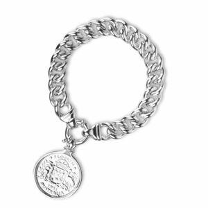 HC-FPNS.HC-12HC Cotton & Co Sterling Silver Australian Florin Coin with Curb Chain Bracelet.jpg