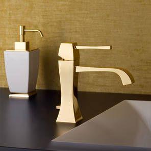 Gessi Mimi Waschtischarmatur in gold glanz, art. 31101.080, auch in gold gebürstet erhältlich