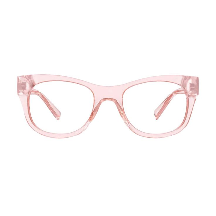 "- ""Clear plastic glasses are having a moment right now, but I'm obsessed with this blush take on the look.""—Erin Nicole, Contributing Lifestyle Editor"