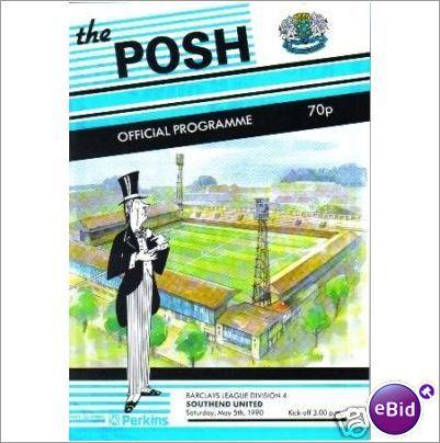 Peterborough United v Southend Utd 05/05/1990 Division 4 Football Programme Sale