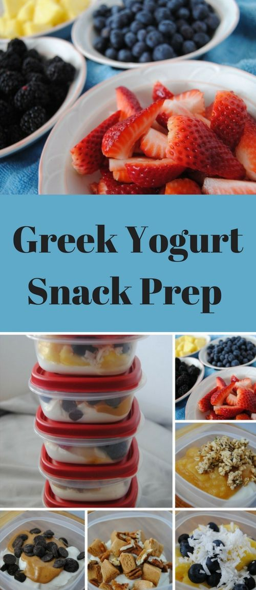 Eating healthy on the go is almost impossible.  Check out this easy, fast, healthy and delicious way to prep Greek yogurt snacks