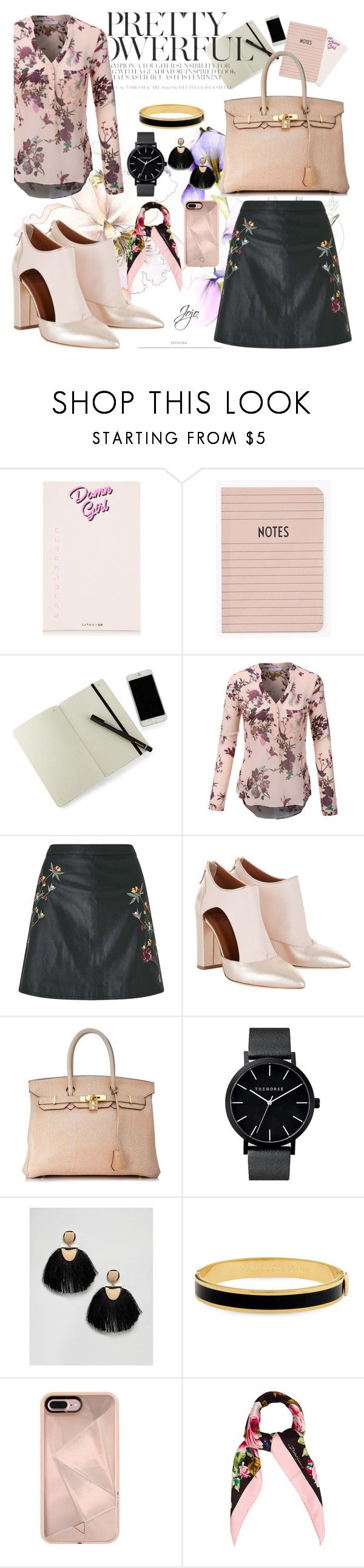 """""""#PolyPresents: New Year's Resolutions"""" by jrpsketch on Polyvore featuring Debbie Bliss, Moleskine, LE3NO, Miss Selfridge, Hermès, ASOS, Halcyon Days, Rebecca Minkoff, Dolce&Gabbana and contestentry"""