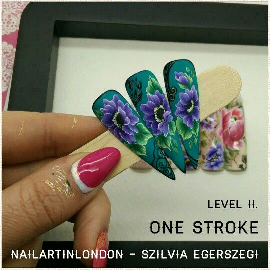 120 best own nail designs nailartinlondon images on pinterest onestroke nailart courses in london handpainted floralnails flowers art prinsesfo Choice Image
