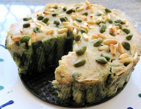 Nudelauflauf mit Spinat