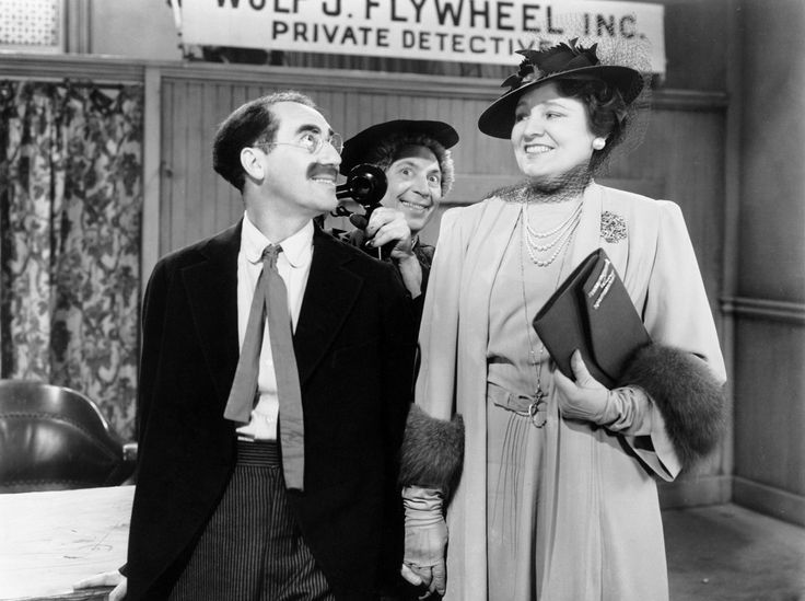 "Groucho, Harpo, and Margaret Dumont in ""The Big Store."""
