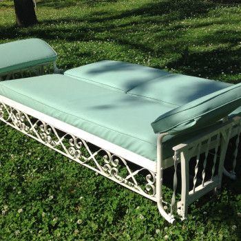 J.R. Bunting Sleeper Glider — Vintage Metal Furniture | Vintage Patio Furniture | Mulberry Street