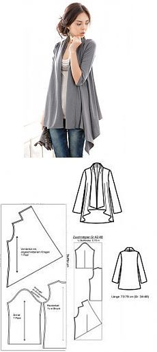Drape Waterfall Cardigan Jacket