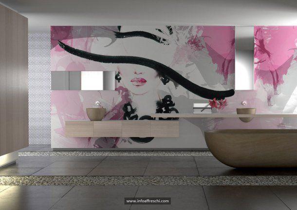Enchanting wall decorations made on a thin layer of rollable plaster. Affreschi&Affreschi, the style of your home! #fresco #interiordesign #architecture #wallpaper #interiors #wallart #walldecor #mural #affreschi #frescoes #fresques #frescos #decoration #art #madeinitaly #salonedelmobile #newideas #modernart #modernfresco #bathroom #luxury #dreamhouse #abitareiltempo #homi